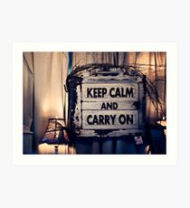 Keep Calm && Carry On Art Print