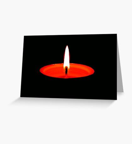 Single Flame ©  Greeting Card
