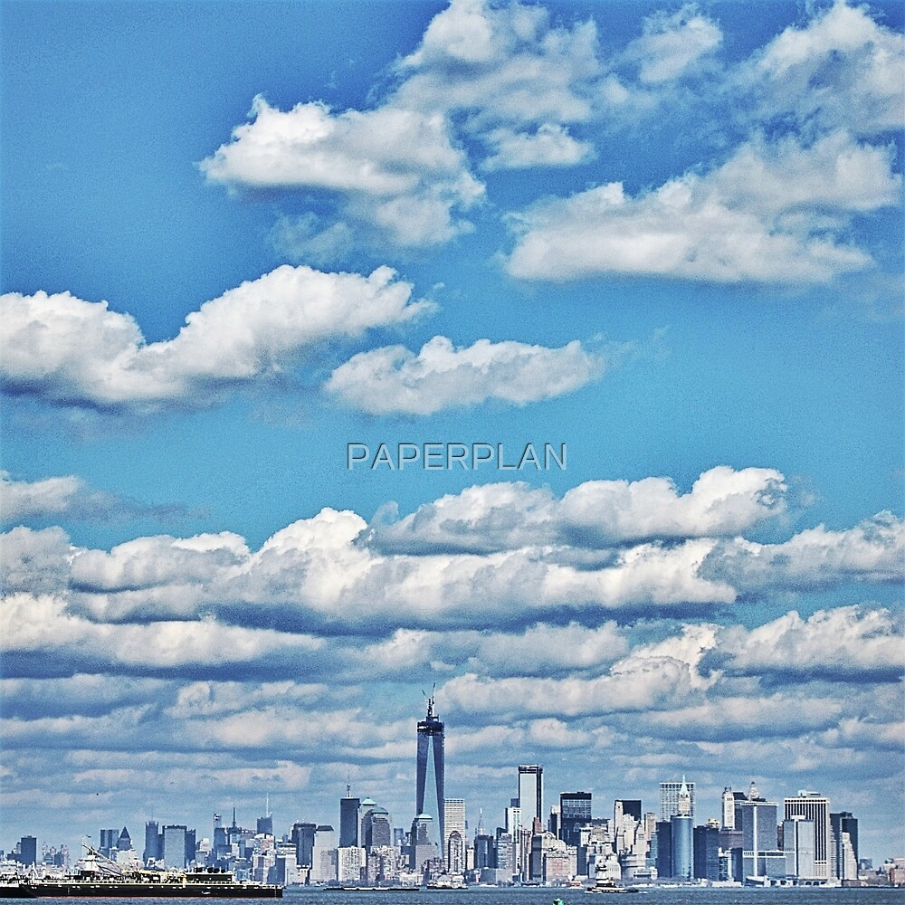 Skyline of the Big Apple. by PAPERPLAN