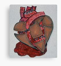 Armour Plated Heart Canvas Print