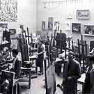 Our Painting Studio University of Iowa 1955 by Randy Sprout