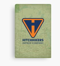Hitchhikers Improv (Navy & Orange) Canvas Print