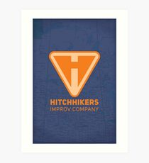 Hitchhikers Improv (Creamsicle) Art Print