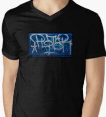 West Coast Classic Graffiti  Men's V-Neck T-Shirt