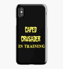 Caped Crusader IN TRAINING iPhone Case/Skin