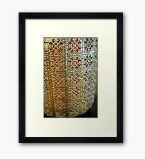 Silver  Lace Framed Print