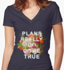 Plans Really Do Come True Women's Fitted V-Neck T-Shirt