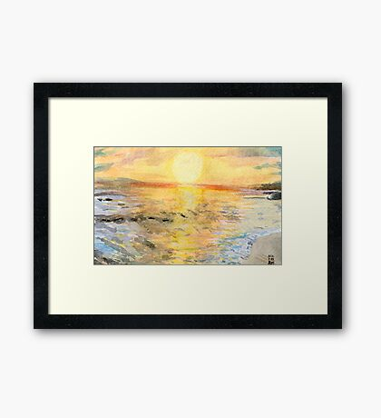 Santa Cruz at Sunset Framed Print