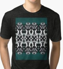 Tribal Dance - Black and White Feathers Tri-blend T-Shirt