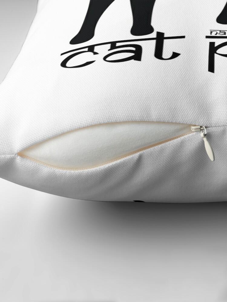 Alternate view of Cat Pose 1 - Cat Yoga (black text) Throw Pillow