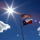US and Texas flags by jcmeyer