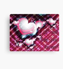 Love Forever Card Canvas Print