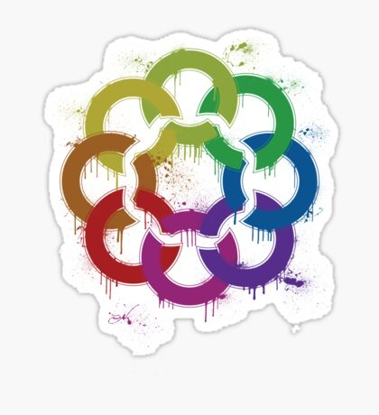 graffiti rainbow flower Sticker