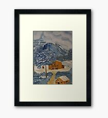 Old Bar B Ranch hand shack up in the mountains Framed Print