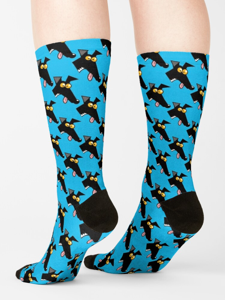 Alternate view of Seamless Derp: Blue Socks