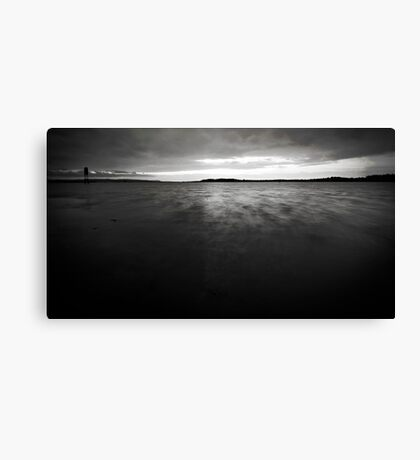A Sunset in Black and White Canvas Print