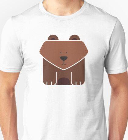 Cute Square Brown Bear T-Shirt