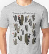 Woodpeckers of North America Unisex T-Shirt