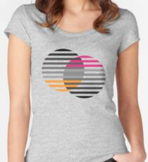 Striped baubles Fitted Scoop T-Shirt