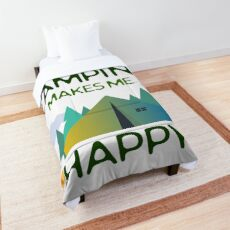 Camping Lovers - Camping Makes Me Happy Design Comforter