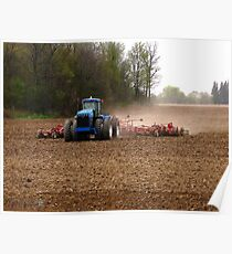 Cultivating the Soil in May Poster