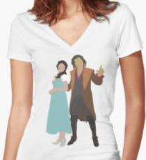 Rumbelle - Once Upon a Time Women's Fitted V-Neck T-Shirt