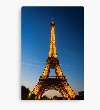 Eiffel Tower and sunset Canvas Print