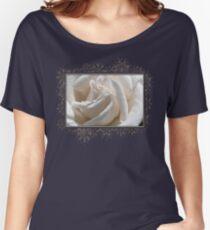 Long-Stemmed White Rose Women's Relaxed Fit T-Shirt