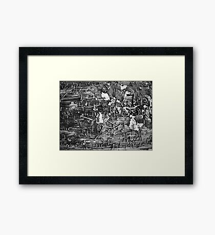 street posts Framed Print