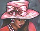 Pink Satin Hat by Alga Washington