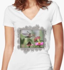 A Sip From a Zinnia Women's Fitted V-Neck T-Shirt