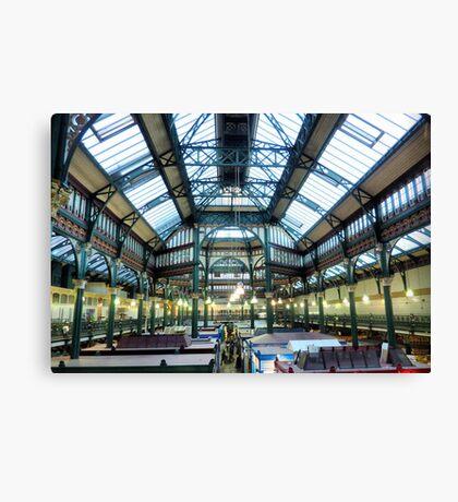 Leeds Indoor Market. Canvas Print