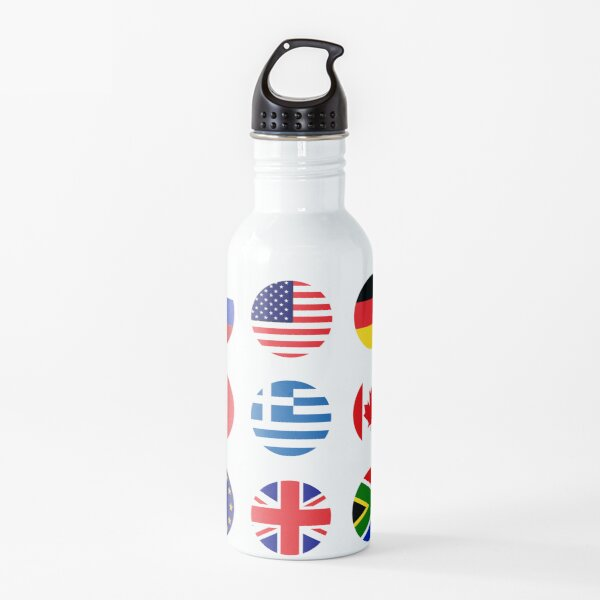 Flag Icons Water Bottle