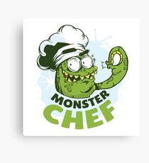 Monster Chef Canvas Print