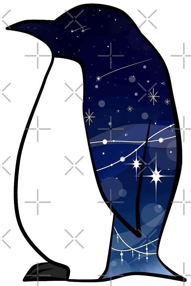 Night sky Penguin by anko1783