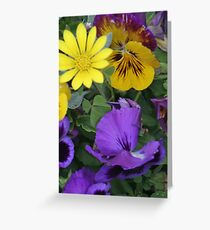 Brightly Coloured Flowers Greeting Card