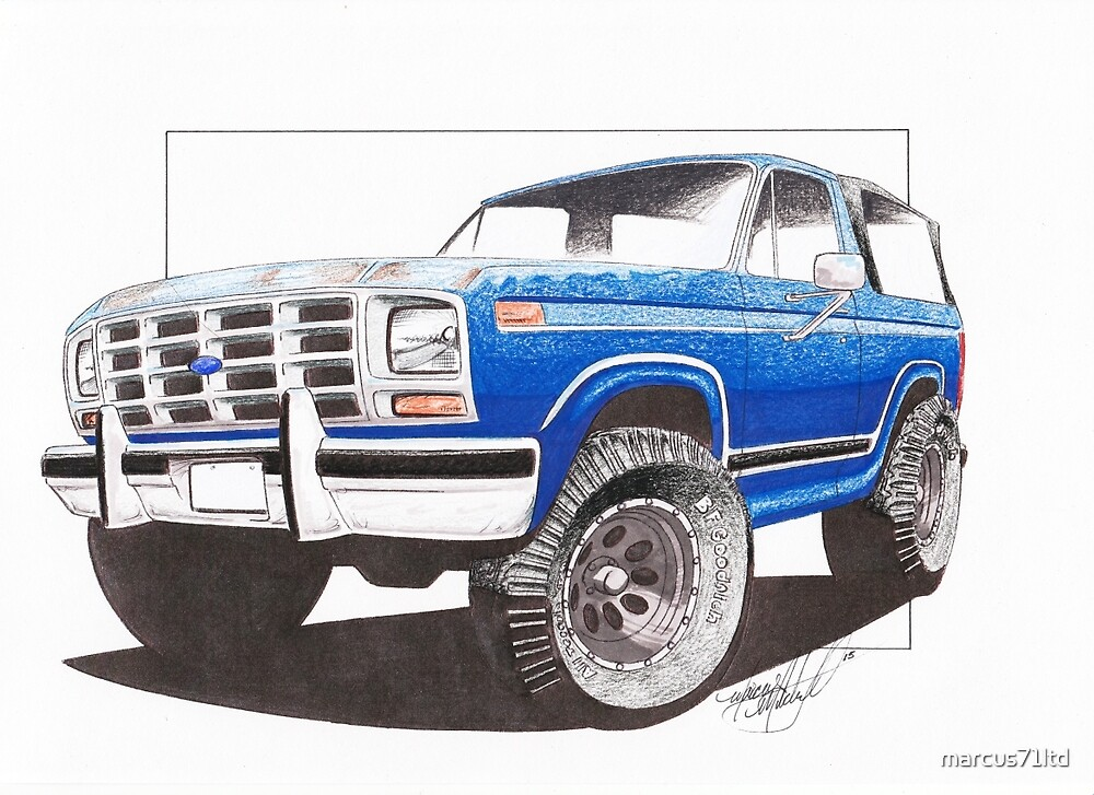 86 Ford Bronco  by marcus71ltd