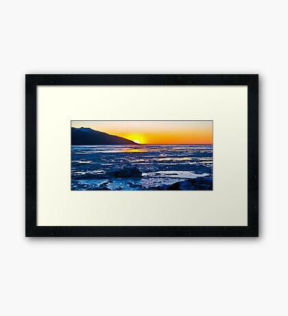 Turnagain Arm Afternoon Sunset Framed Print