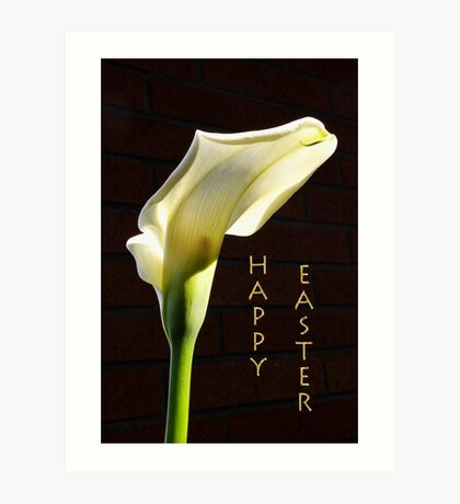 'happy easter' lily Art Print