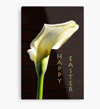 'happy easter' lily Metal Print