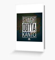 Pokemon - Kanto Region Greeting Card