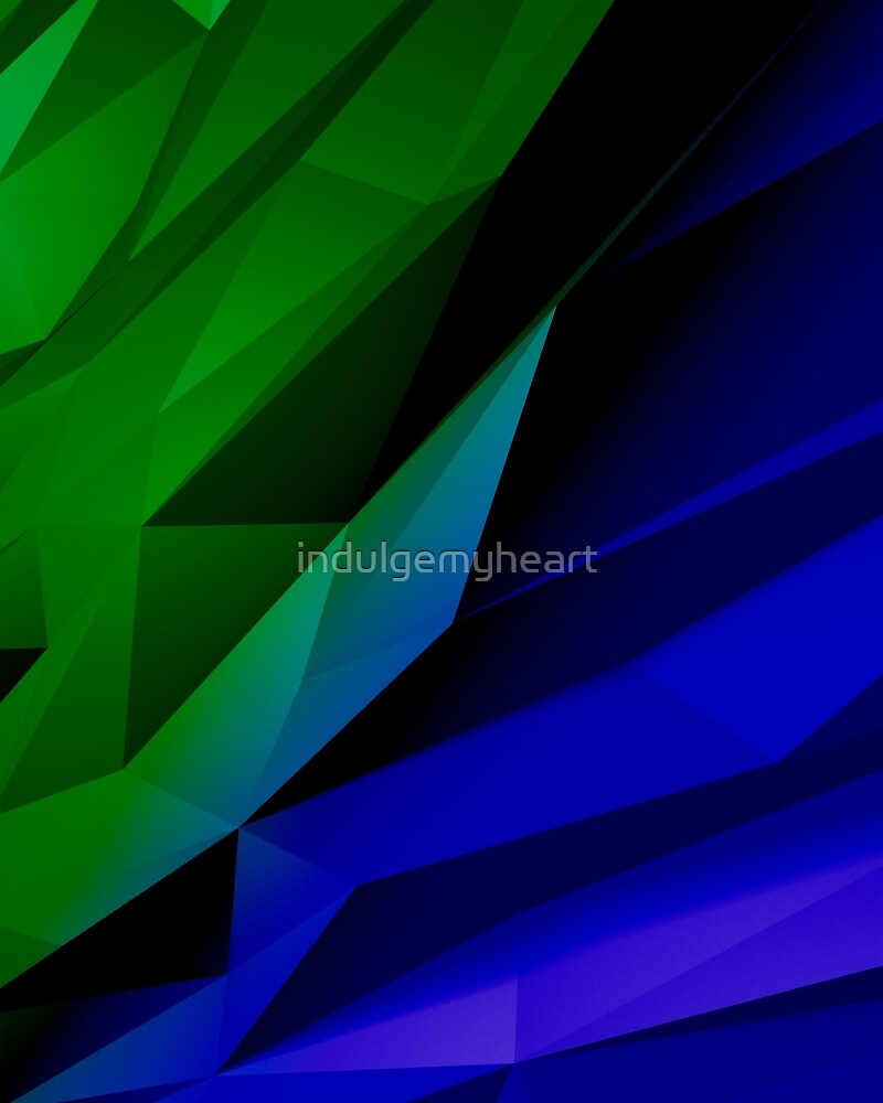 Geo Green and Blue by indulgemyheart