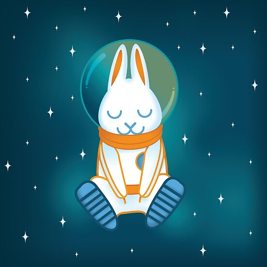 BUN-STRONAUT DIGITAL PAINTING by Mary Huff