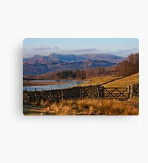 Wise Een tarn and the Langdale Pikes Canvas Print