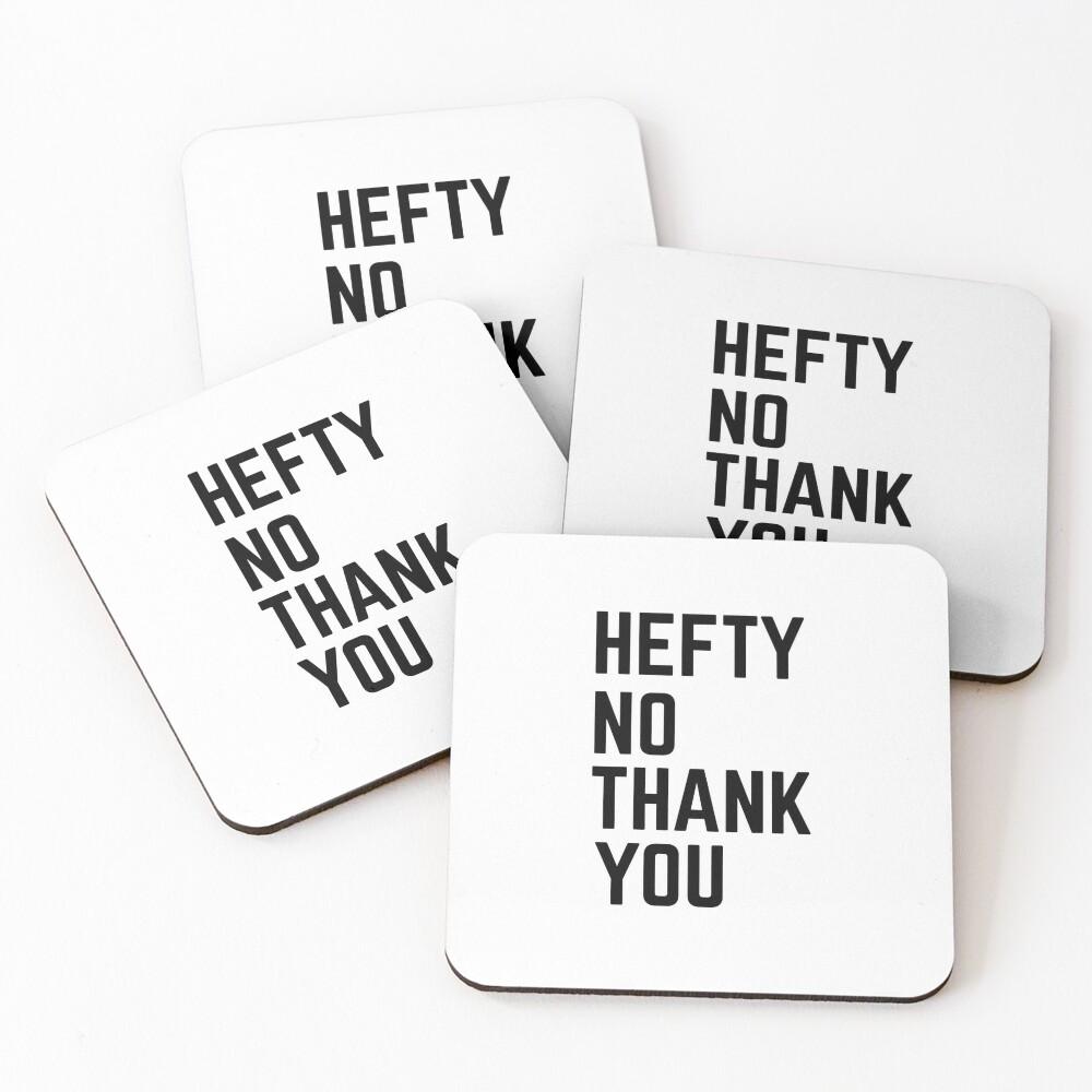Hefty No Thank You Coasters (Set of 4)