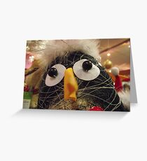 Funky penguin Greeting Card