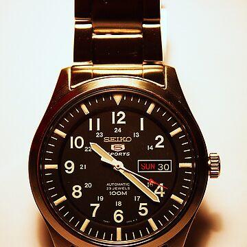 Seiko 5 Sports Automatic 23 Jewels 100M Reloj militar de LonelyMinstrel