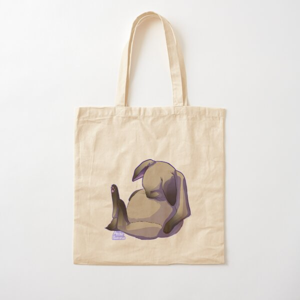 Cute Sleeping Sitting Siamese Cat Bunny Cotton Tote Bag