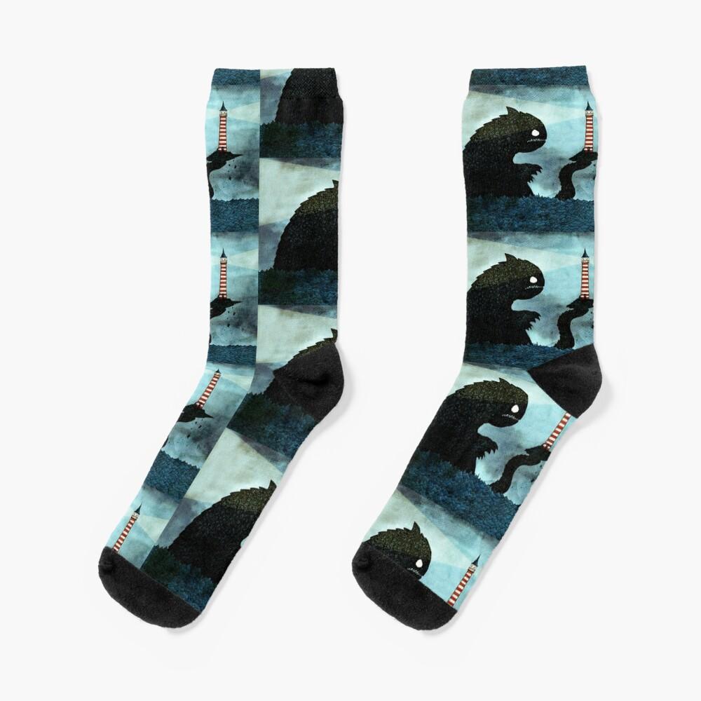 Sea monster & Lighthouse Socks