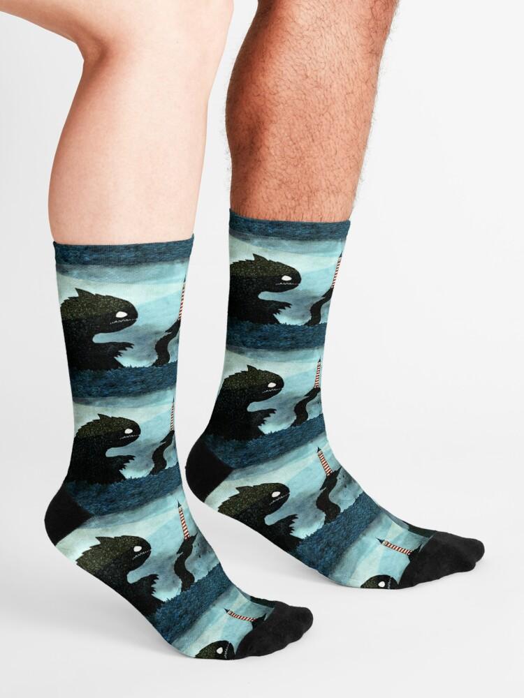 Alternate view of Sea monster & Lighthouse Socks